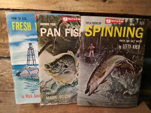 Vintage 1968 GARCIA Fishing Outdoor SPORTS LIBRARY LOT of 3