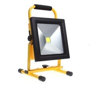 50W Portable Ultra Thin LED Hi Power Work Light Lamp Rechargeable Flood Light