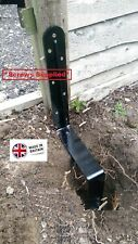 More details for rsl easy fence post support repair spike -knock in, concrete in and screw down