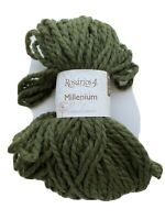 3.5oz Green/Khaki 100% wool Jumbo Super Bulky Yarn Rosarios4 Millenium 66 yards