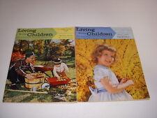 Living With Children Magazine, Lot of 2, 1959-1960, Vintage Parenting Magazine!