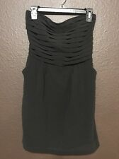 Strapless Black Cocktail Dress with Pockets