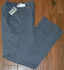 Sansabelt Polyester Dress Pants Gray 36 LONG Flat Front New Unhemmend
