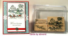 Stampin up~Sleigh Bells set~Sleigh ride~Welcome Christmas~