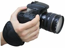 Cámara 2x Negra Empuñadura Muñeca Correa Acolchada Para Eos Nikon Sony Pentax Slr/dslr