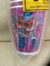 TRANSFORMERS Unused SET OF 8 PARTY CUPS Official Hasbro 1984 VTG OPTIMUS PRIME