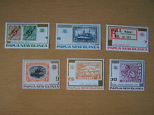 PAPUA NEW GUINEA,75TH STAMP ANNIVERSARY, U/M SET OF 6 VALUES,EXCELLENT.