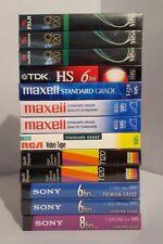Mixed Lot Of 13 Blank VHS Tapes Sony Gemini RCA Maxell TDK Fuji