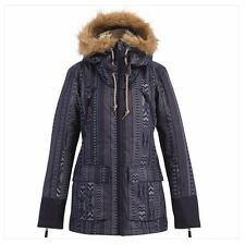2016 NWT WOMENS BILLABONG MYA SNOWBOARD JACKET $265 S peacoat faux fur on hood