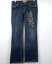 24fe9b7c59 C est Toi Jeans Juniors Size 7 Bootcut Distressed Embroidered Stretch