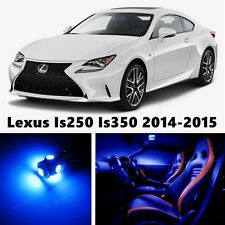15pcs LED Blue Light Interior Package Kit for Lexus Is250 Is350 2014-2015