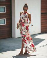 Women Maxi Sundress Summer Party Sleeveless Sexy Gown Fashion Long Dress
