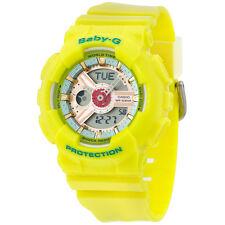 CASIO BABY-G 46 mm Pink/Blue Dial Yellow Resin Women's 46 mm Watch BA110CA9A