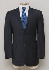 Mens 38R Burberry London Black Stripe 100% Wool Blazer