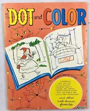 1962 Dot Color Fairy Tales Puzzles Vintage Children's Coloring Book Saalfield