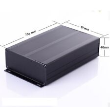 Split Body Black Extruded Aluminum Enclosure Instrument Box  DIY Amplifier A307