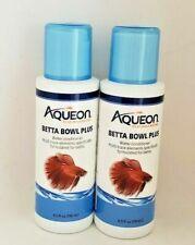 Aqueon Betta Bowl Plus Formulated for betta Water Conditioner X 2 Fish Food