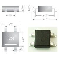 S341 - 50 Stück SMD Brückengleichrichter Gleichrichter 80V 0,8A Mini-DIL Gehäuse