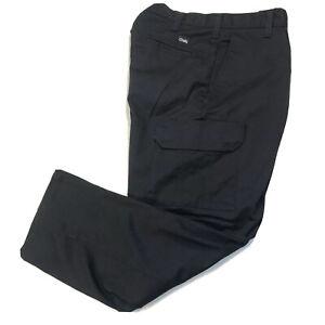 NWOT Cintas Mens Work Cargo Pants 270-20 Flat Front Comfort Flex Navy Blue 32x34