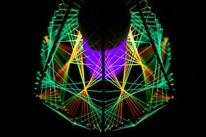Geometric Light, Psychedelic Lamp, Decorative Lamp, UV LED Lamp, Bohemian Lamp