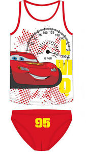 Disney Cars Lightning McQueen Unterwäsche Set Hemd + Slip