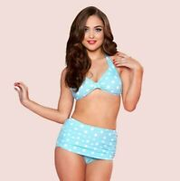 Esther Williams Polka Dot Bikini Set Aqua 4-26W BNWT FAST FREE SHIPPING!