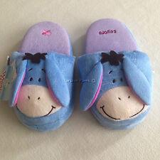 DISNEY WINNIE THE POOH EEYORE Plush Slippers Shoes Size UK 3-7, EU 34-40, US 5-9