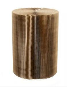 Paper Lounge 55cm Tall Concertina Table - Dark Brown (E122)