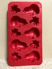 Peanuts Snoopy and Woodstock Shaped Baking And Ice Cube Tray Silicone Mold