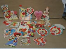 20 lot of 1940's valentines day cards made in the u.s.a.