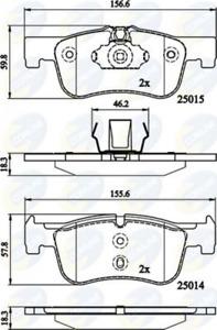 COMLINE Bremsbelagsatz, Scheibenbremse CBP02148 für BMW