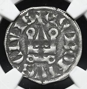 FRANCE. Philip IV, 1285-1314. Silver Denier Tournois, Long 'O', NGC VF35