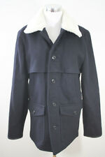 J.Crew Wallace and Barnes Wool Worker Jacket $268 B2798 M Medium Sherpa Navy