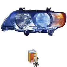 Headlight Left BMW X5 E53 99-03 Lwr With Motor incl. Philips Lamps 1372060