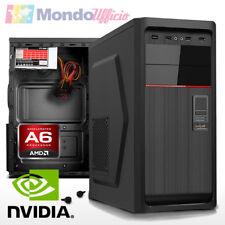 PC Computer AMD AM4 A6-9500 3,80 Ghz - Ram 8 GB DDR4 - HD 1 TB - nVidia GT 730