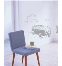 WALL ART STICKER DECAL VINYL HOME DECOR HIPPIE PEACE SIGN OLD BUS AUTO