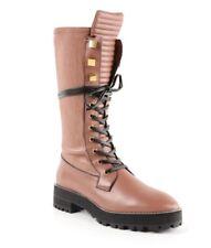NEW STUART WEITZMAN Rare Elspeth Combat Boots Rose Clay 9 $698
