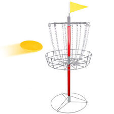 Disc Golf Catcher Basket Lightweight Portable Steel Chain Practice Frisbee Yard