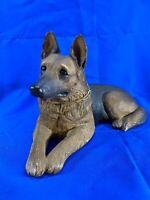 "Sandicast Sculpture German Shepherd Sandra Brue Animal Dog Pet Figurine 10"" Long"
