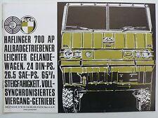 Prospekt Steyr-Puch Haflinger 700 AP, 12.1965, 8 Seiten