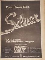 Richard and Linda Thompson tour  1975 press advert Full page 28 x 39 cm poster