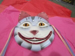 Vintage 1980 Ceramic Whimsical Smiling Cat Face Wall Mask