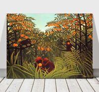 """HENRI ROUSSEAU - Monkies & Oranges - CANVAS ART PRINT POSTER - 24x16"""""""