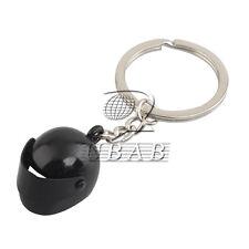 Motorcycle Bike Aluminum Helmet Key Chain Ring Keychain Keyring Black Creative