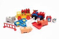 Lego Duplo FARM BUNDLE - Tractor Plow Cow Pig Milk Trailer Wheat Fences Vintage