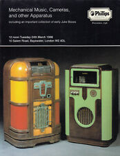 Juke Boxes Mechanical Music, Cameras & Other Apparatus 1998 Phillips Catalogue
