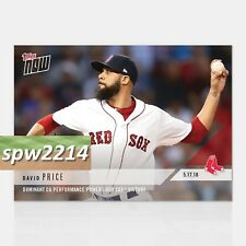 2018 Topps Now David Price #223 Dominant CG Performance Powers Red Sox Victory