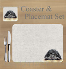 Cockapoo, Cavapoo,  placemat and coaster set    by Jane Bannon