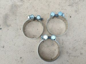 MOTORCYCLES exhaust clamp. (x3)