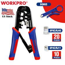 Workpro Rj45 Insulation Wire Stripper Cutter Crimper Terminals Withmini Stripper
